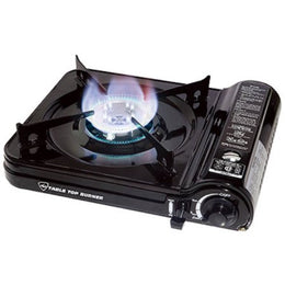 Max™ Table Top Burner - Butane Camp Stove and Two Pack Fuel