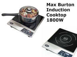 1800 Watt Induction Cooktop with Free Interface Disc - by Max Burton