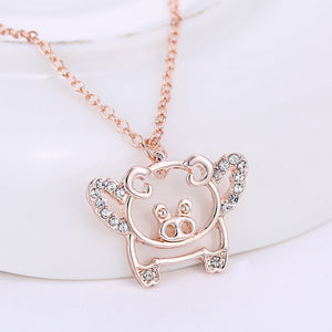 When Pigs Fly Rose Gold Plated Necklace