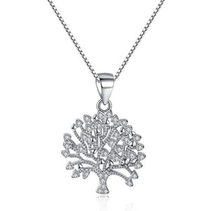 Tree of Life Sterling Silver 925 Necklace Pendant - Women