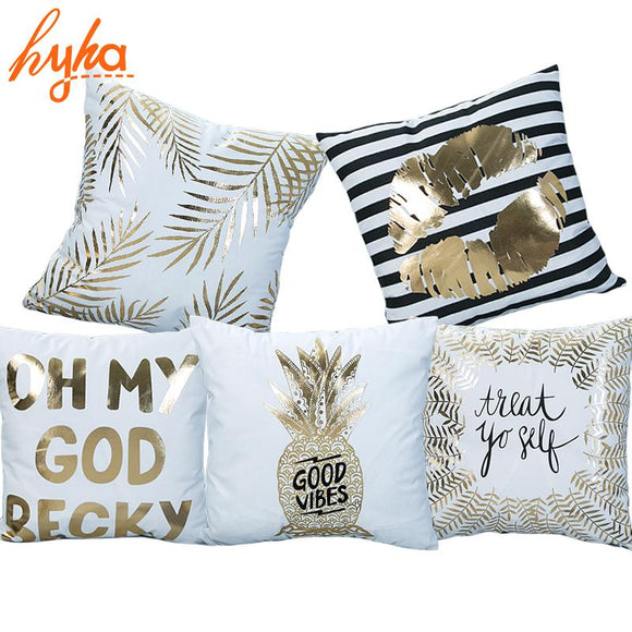 Bronzing Decorative Pillow Cover