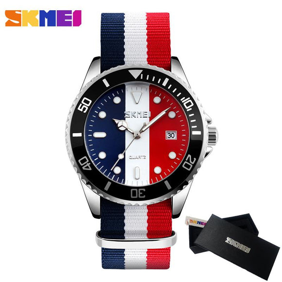 Red White Blue Wrist Watch