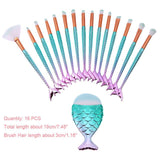 Mermaid Makeup Brush Set - 1/4/5/10/15PCS