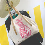 Pineapple Print Shoulder Tote Bag
