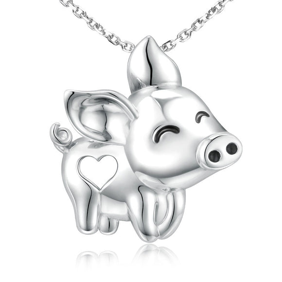 Happy Piggy 925 Sterling Silver Necklace