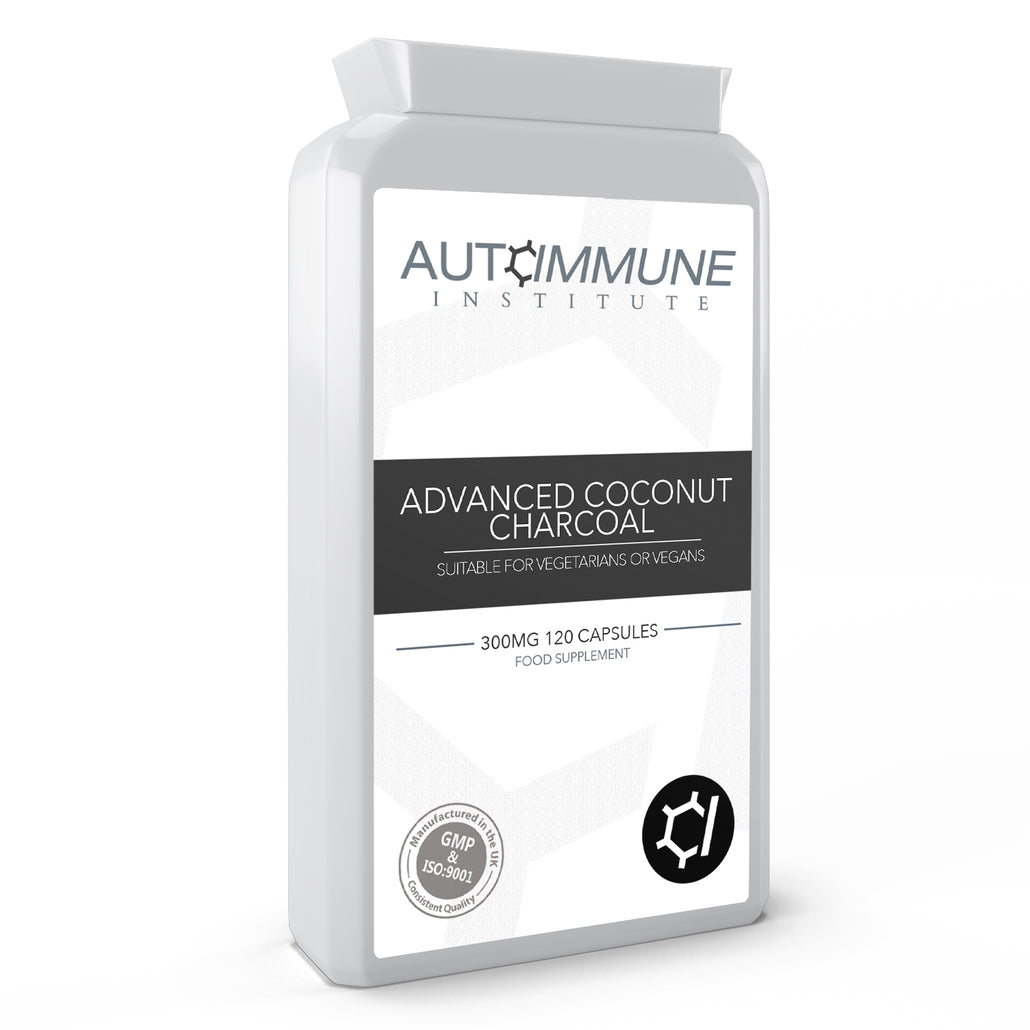 Advanced Coconut Charcoal - Activated charcoal supplement made from coconut, 300mg per capsule