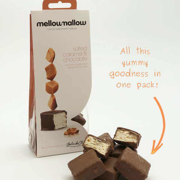 Salted Caramel and Belgian Milk Chocolate Marshmallows