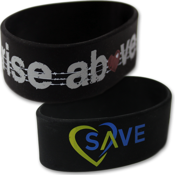 Rise Above Rubber Wristband