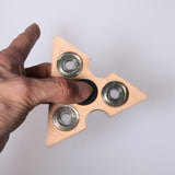 Hot Tri-Spinner Fidgets Toy Wooden EDC Sensory Fidget Spinner Help with Autism and ADHD to Relieve Stress and Increase Focus