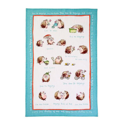 Hedgehogs Linen Towel