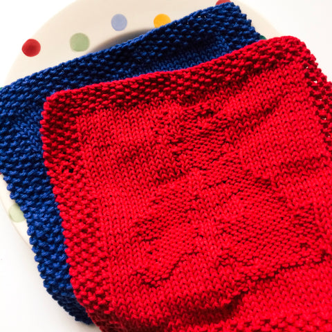 British Isles Knit Dishcloth