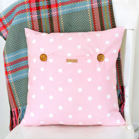 Pink Dotty Pillow Cover