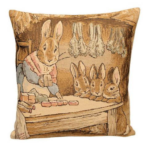 Peter Rabbit Tapestry Pillow Cover - Mother Rabbit
