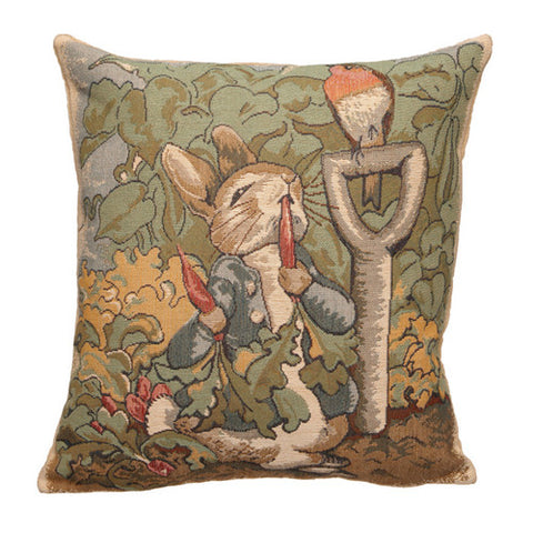 Peter Rabbit Tapestry Pillow Cover - Garden