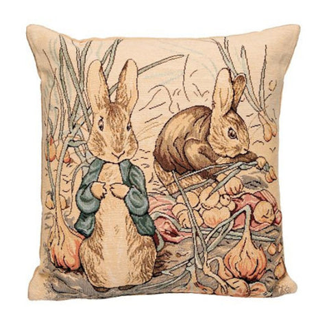 Peter Rabbit Tapestry Pillow Cover - Blue Coat