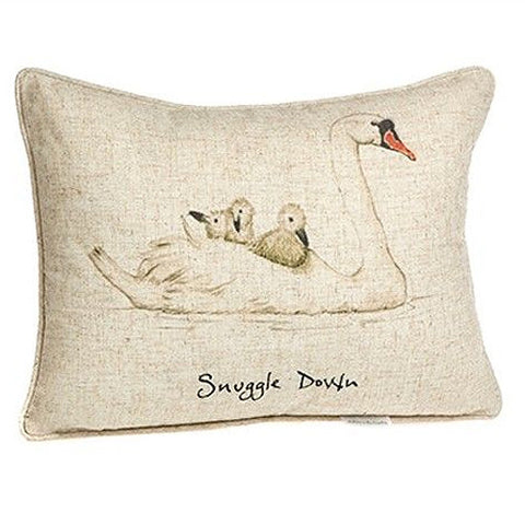 Snuggle Down Swan Pillow