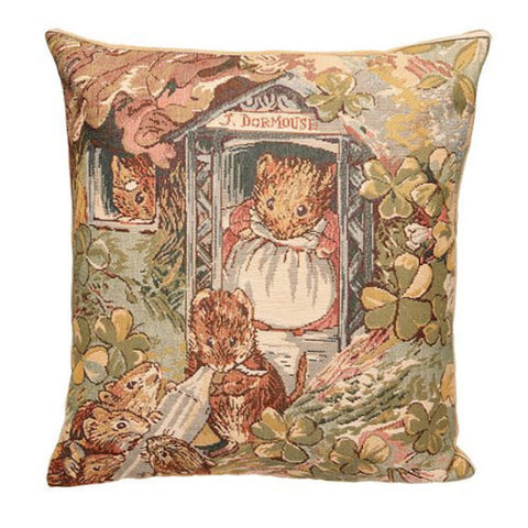 Mrs. Tittlemouse Tapestry Pillow Cover