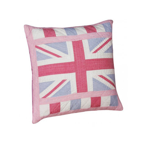 Union Jack Pink Patchwork Pillow Cover