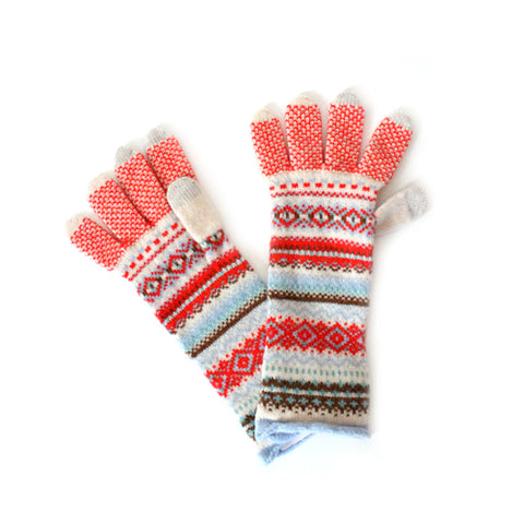 Folk Tale Fair Isle Scottish Knit Gloves - Wildflower – Little ...
