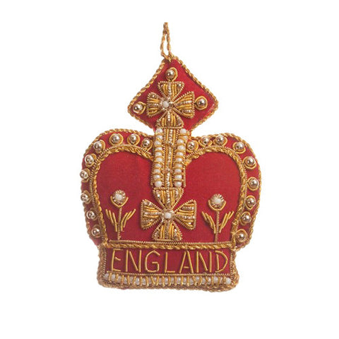 England Crown Ornament