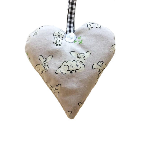Sheep Lavender Heart