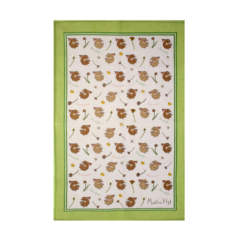 Sleeping Bunnies Linen Towel