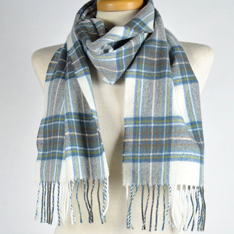 Scottish Lambswool Scarf - Stewart Blue Dress Tartan