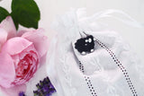 Luxury Rose and Lavender Bag in White Linen