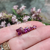 Alexandrite, Color Change, Lab Created, 4mm, 6mm, or 8mm Square, Faceted Gemstone