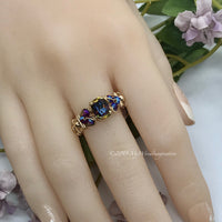 Vitrail Dark, Vintage Swarovski Crystal, Handmade Ring in 14k GF or Sterling Silver, Made to Order