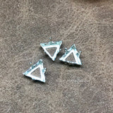 3 Pcs Plated Triangle Settings for Swarovski art 4722 8mm Crystal Rhinestone