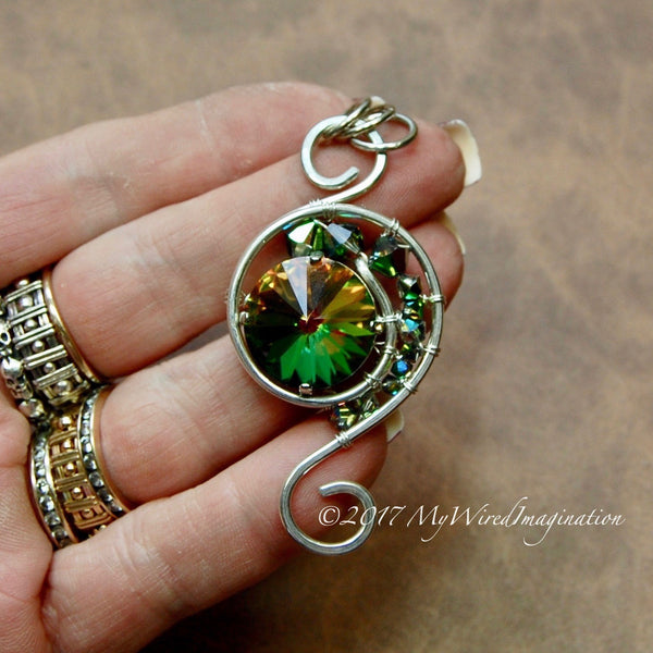 NEW Eye of the Hurricane, Wire Wrap Pendant Tutorial