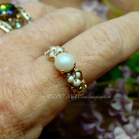 Swarovski Crystal Pearl Ring, Handmade Ring, Made to Order