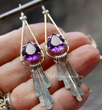 Hammered Crystal Earring, Wire Wrap Earring Tutorial