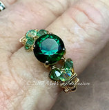 Hydrothermal Green Quartz Handmade Ring, Made to Order