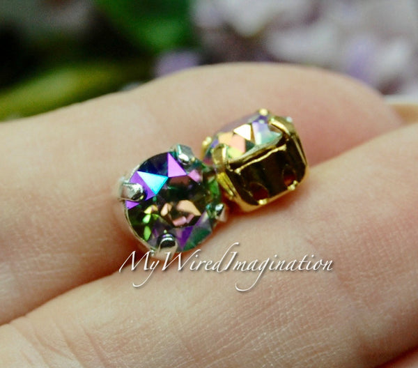 Paradise Shine, Swarovski Crystal, 39ss Xirus Chaton 8mm 2 pcs with settings