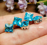 3pcs Silver or Gold Plated Rhinestone Settings for 8mm Square Art 4400 Art 4410