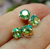 Peridot AB, Swarovski Crystal, 29ss-6mm Crystal Chaton, Swarovski in Setting