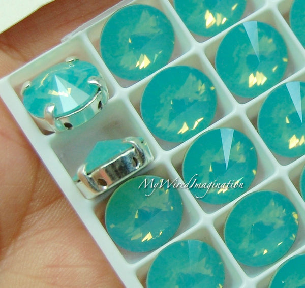 Pacific Opal Swarovski Crystal 10mm Rivoli Sew On Crystal Rhinestone Sew On