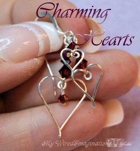 Charming Hearts 1, Wire Wrap Charms, Earrings, Pendants Tutorial