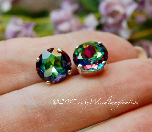 Vitrail Medium Vintage Swarovski, 11mm art 1200 Dentelles with Setting