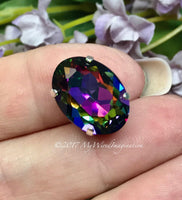 Swarovski Electra, Vitrail Watermelon, 18x13mm 4120 Oval, with Setting