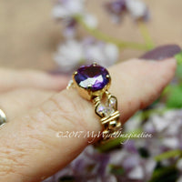 Alexandrite, Color Change Gemstone, Handmade Ring in 14k GF, US Size 5.5