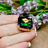 23mm Cabochon or Crystal Setting Art 4675, Silver or Gold Plated Prong Settings