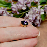 Purple Velvet, 10mm Cushion Cut 4470, Swarovski Crystal  With Setting