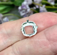 10mm 4470 Setting, SOLID Sterling Silver Setting, 925 Setting, for 10mm Cushion Cut Stones
