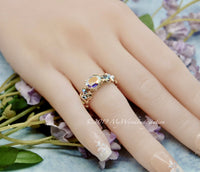 Mercury Mystic Topaz Handmade Ring, Opalescent Mercury Mystic Topaz Ring, Made to Order