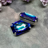 Heliotrope, 27x18.5mm Art# 4627 Genuine Swarovski Crystal With Setting