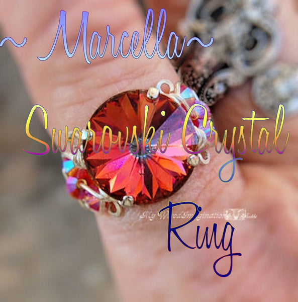 Crystal Ring Tutorial, Intermediate Wire Wrapping Instructions, Marcella Crystal Ring, DIY, How to Make a Wire Wrapped Ring