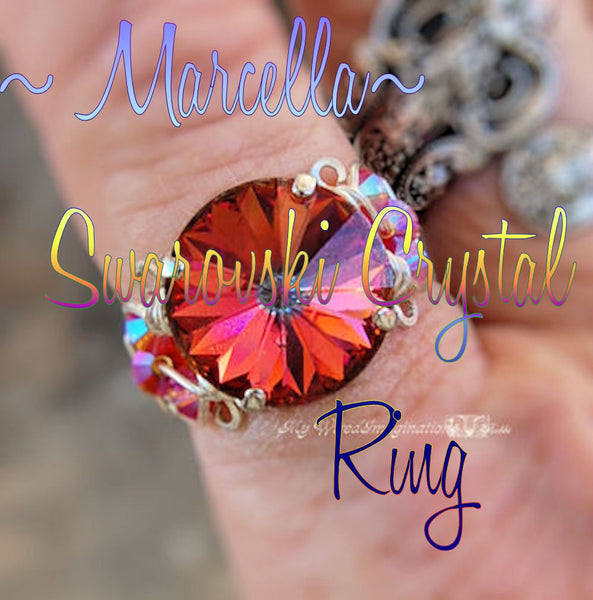 Marcella Crystal Ring, DIY Wire Wrap Ring Tutorial